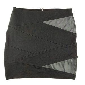 Akira Chicago | black bandage mini skirt